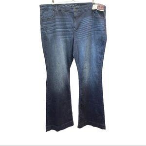 NWT AVA&VIV Flare Jeans Size 26W